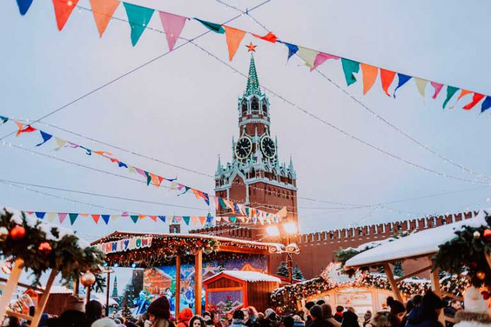 Christmas Fair on Red Square - Moscow, Russia