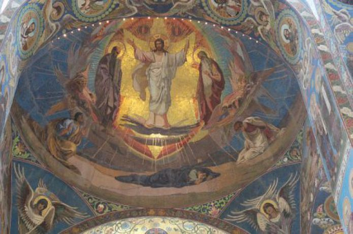 Church of the Resurrection of Christ, Savior On Blood - fragment of space inside the dome of the temple