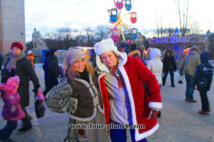 Christmas Fair in St. Petersburg, Russia
