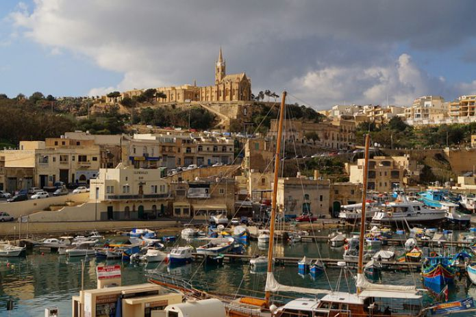 Gozo, Malta, the Mediterranean Sea, water, sky, travel