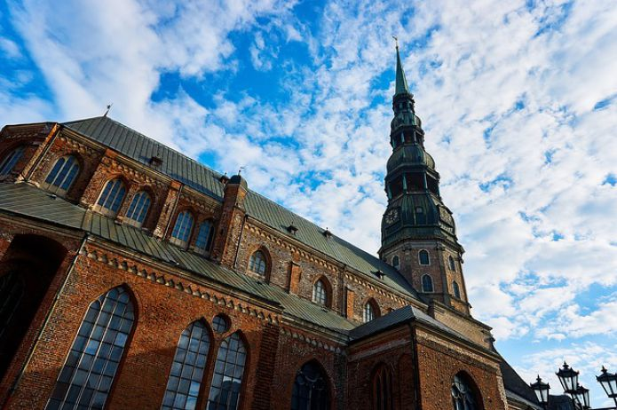 Riga, Latvia - St. Peter's Church, Historical Center, Old Town of Riga