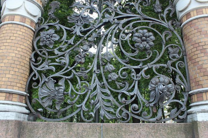 The fence of the Mikhailovsky Garden, St. Petersburg