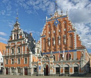 House of Blackheads in the evening - Riga, Latvia