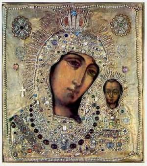 icon of Kazan mother of God - Kazan Cathedral St. Petersburg
