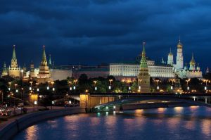 Moscow, view of the Kremlin, Moscow River