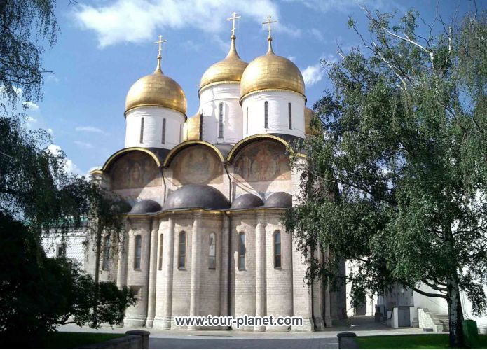 The Assumption Cathedral of the Moscow Kremlin - Russia